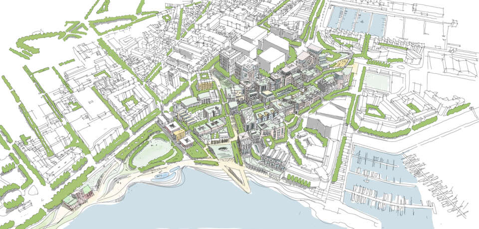 Gillespies' urban design team wins a competition to reimagine St Helier's Waterfront