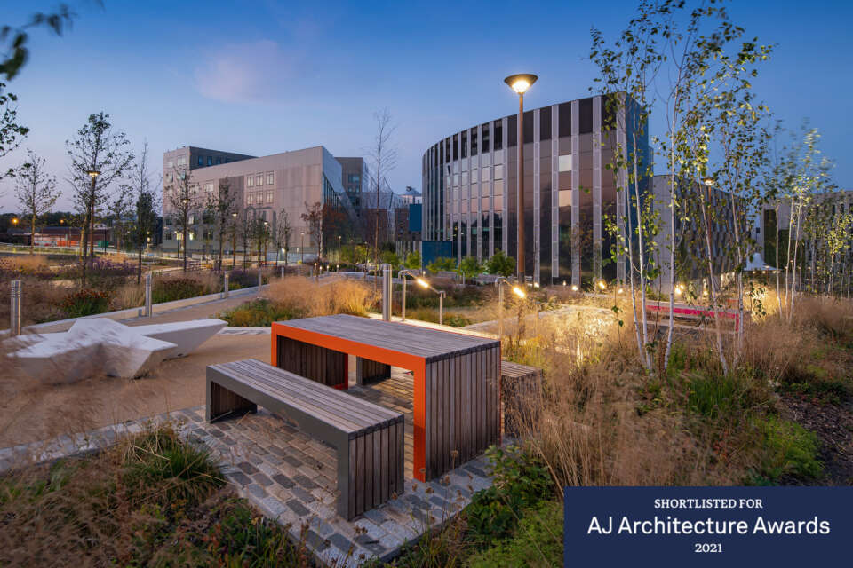 Frederick Douglass Building at Helix Newcastle shortlisted for AJ Architecture Awards
