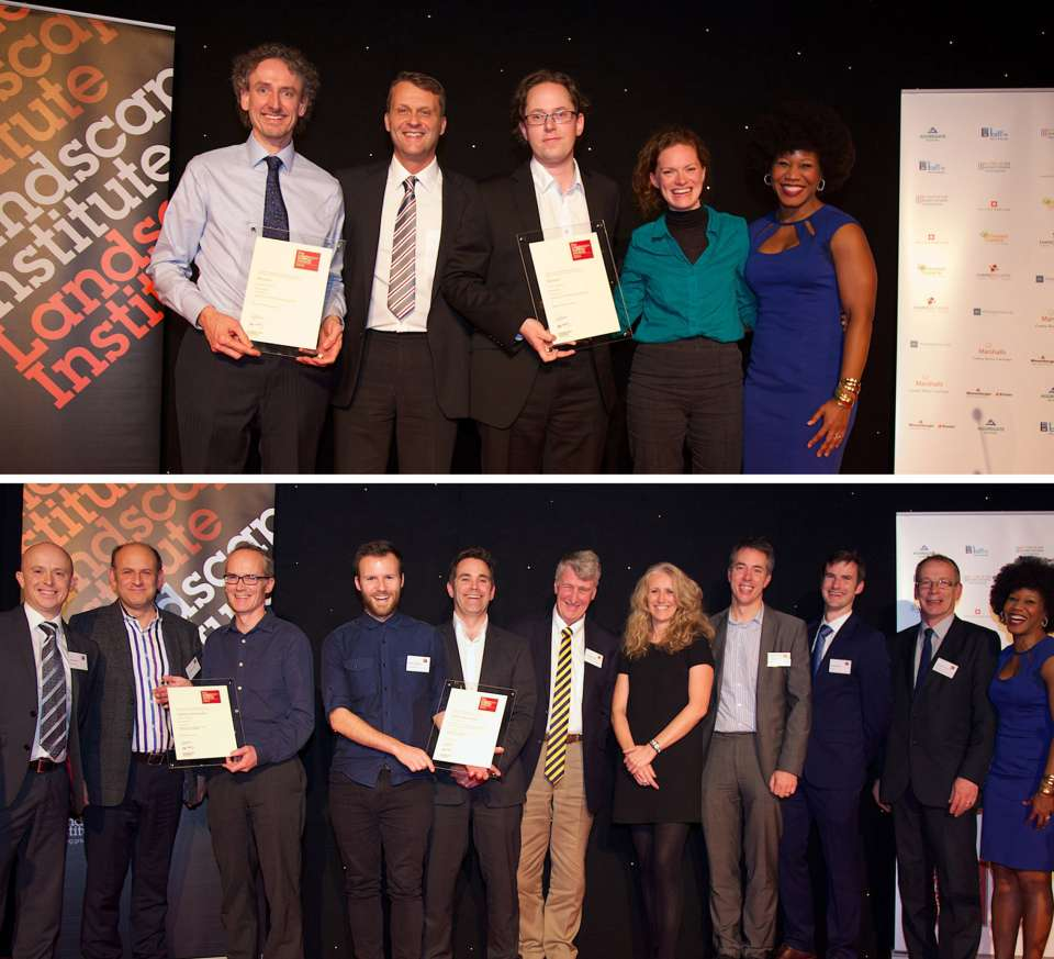 Double award recognition for Gillespies at Landscape Institute Awards 2014