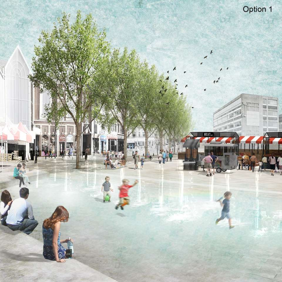 Three new visions unveiled for the revival of Northampton Market Square
