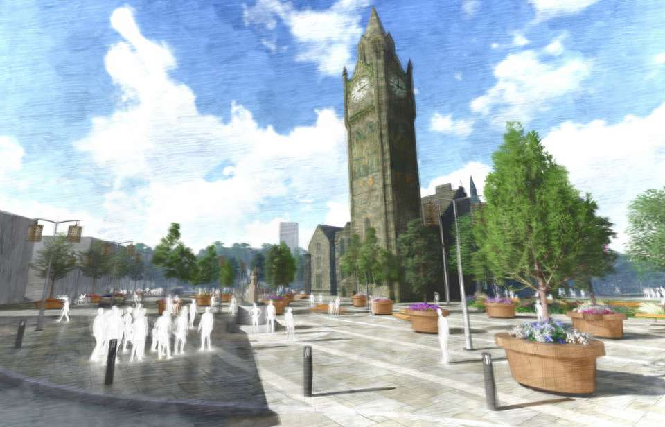 Gillespies appointed to transform the public realm surrounding Rochdale's iconic grade I-listed town hall