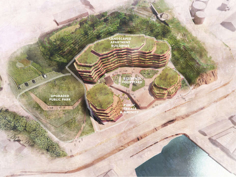Plans unveiled for a new sustainable residential scheme and public spaces in St Helier, Jersey