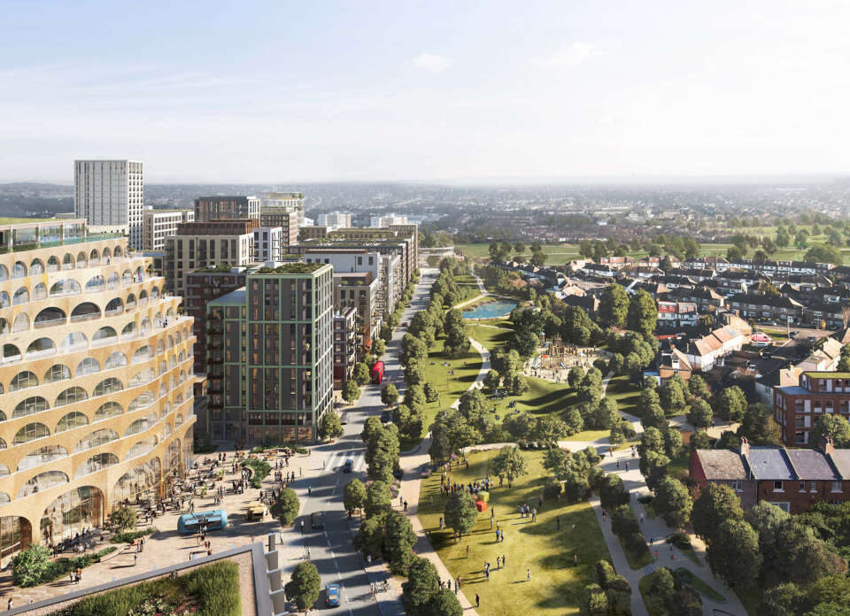 A landscape-led vision for one of the UK's largest developments, Brent Cross Town
