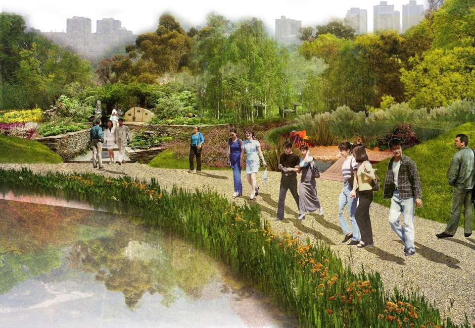 Luzhou River Park Masterplan Competition won by Gillespies with JTP