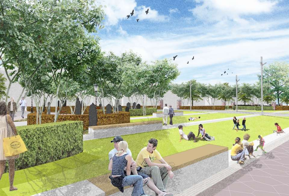 Gardens for Leicester Cathedral reach new construction milestone