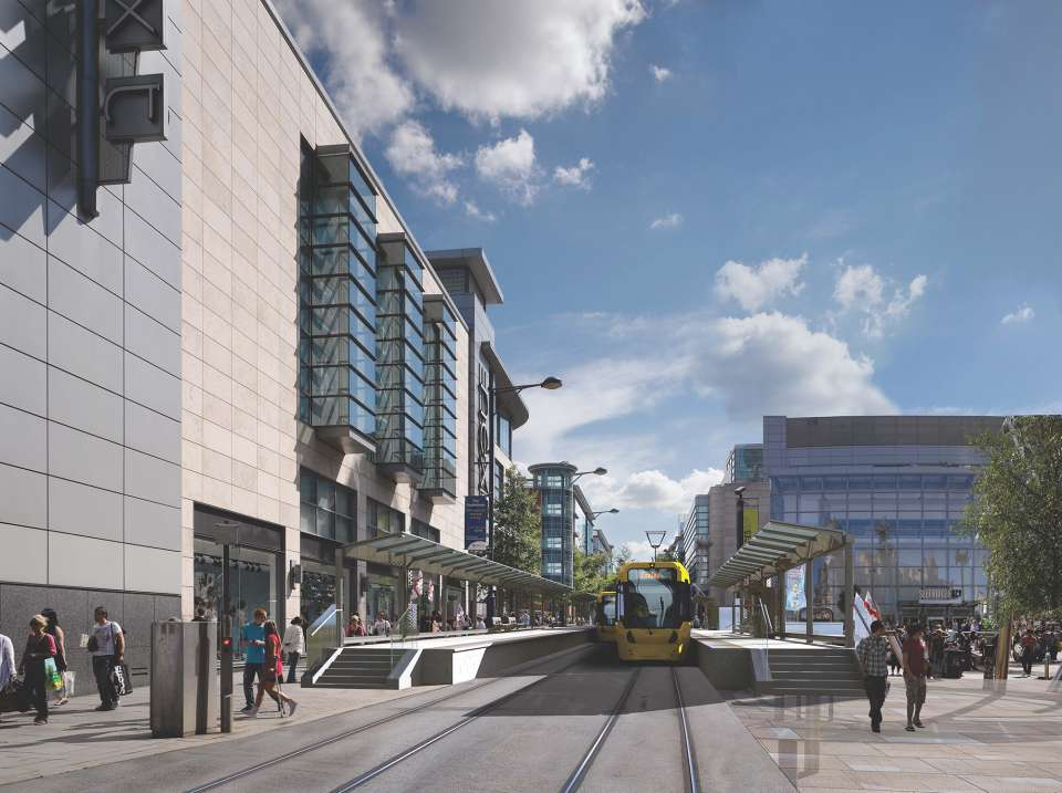 Manchester city centre's new Second City Crossing opens