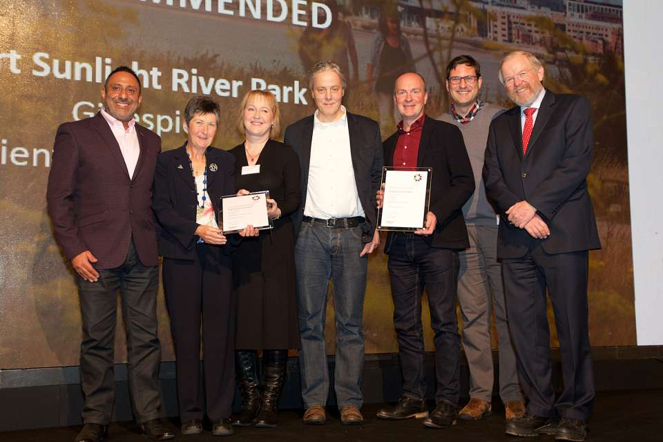 Port Sunlight River Park is highly commended at the 2017 Landscape Institute Awards