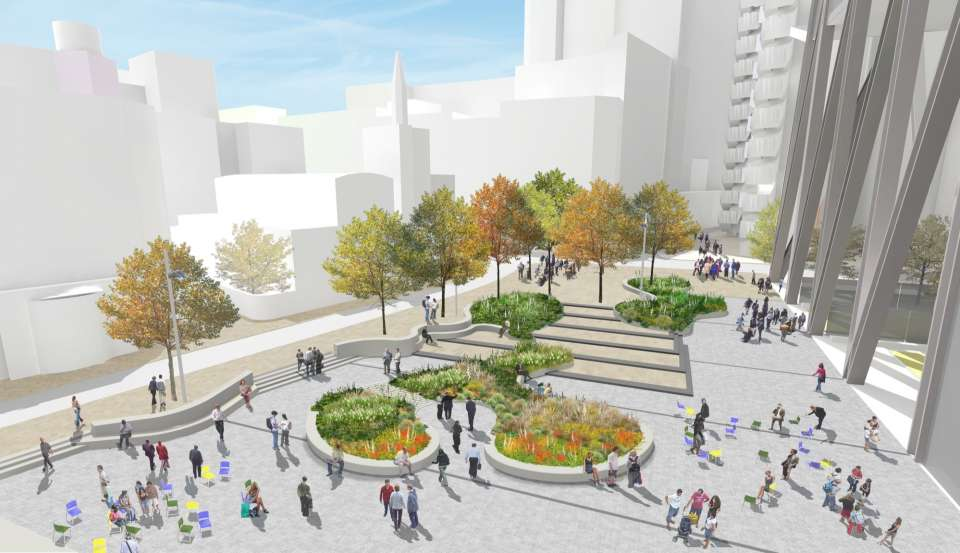 NLA Awards shortlisting for St Helen's Square in City of London