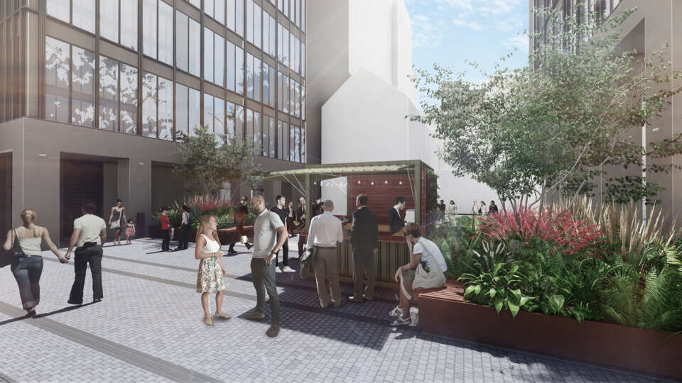 A new landscape courtyard for The Forge in Southwark