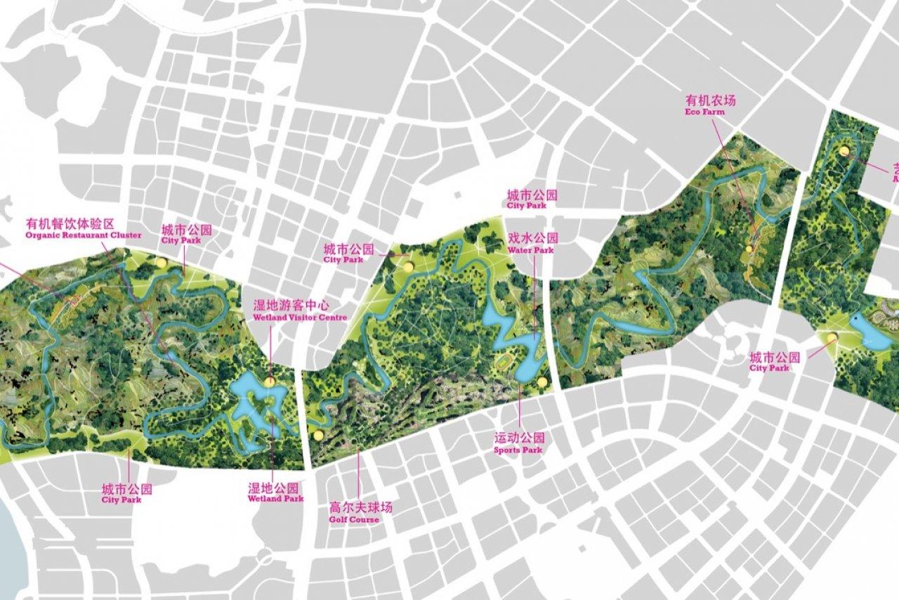 泸州河公园总体规划,泸州
