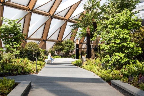 проект Crossrail Place Roof Garden, Лондон, Великобритания