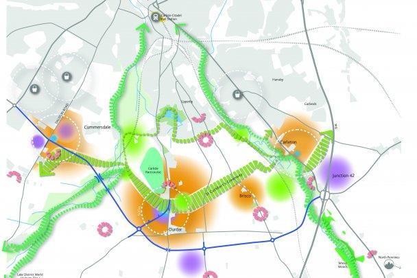 St Cuthbert's Garden Village map