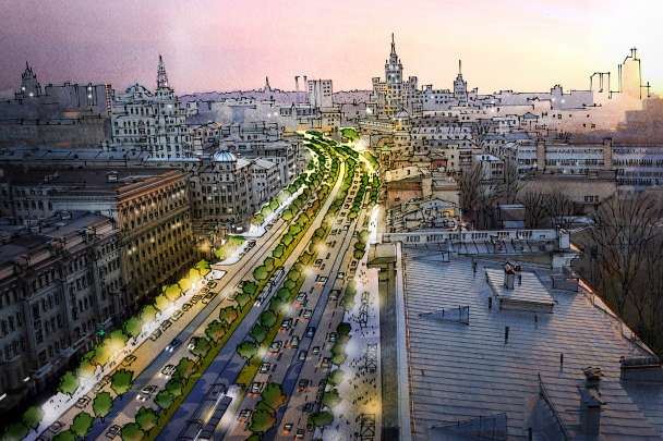 Moscow City Centre Public Realm Strategy, Russia